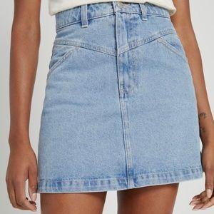 FRANK AND OAK Denim Jean Mini Skirt Light Blue L
